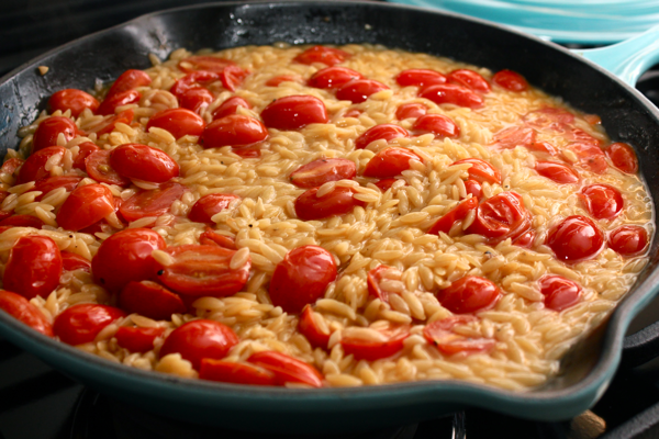 Baked Skillet Shrimp and Orzo | Witty in the City