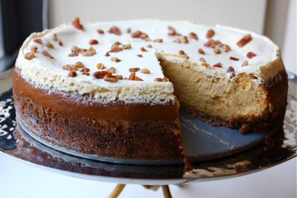 Bourbon Pumpkin Pecan Cheesecake | Witty in the City