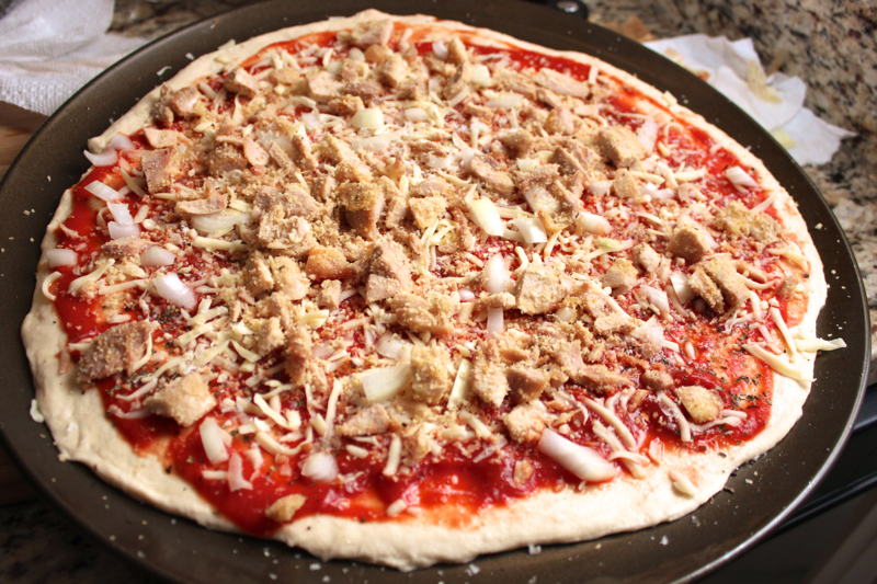 Chicken parm pizza