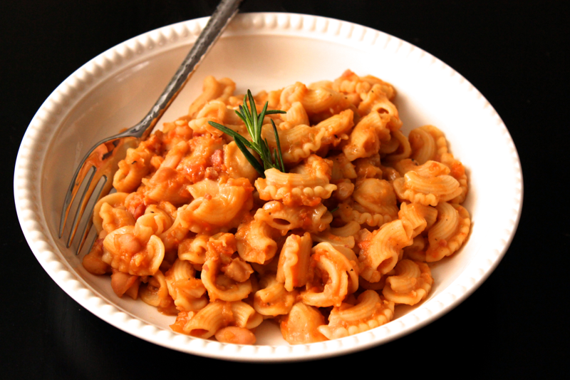 Pasta And White Beans With Garlic-Rosemary Oil Recipes — Dishmaps