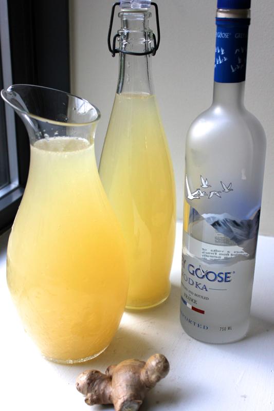 Ginger Lemonade (with Vodka!)