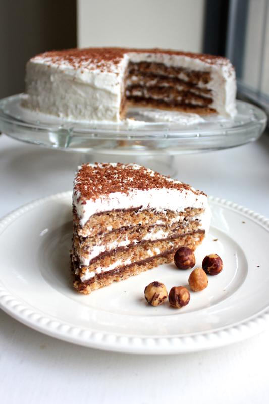 Flourless Hazelnut and Chocolate Layer Cake