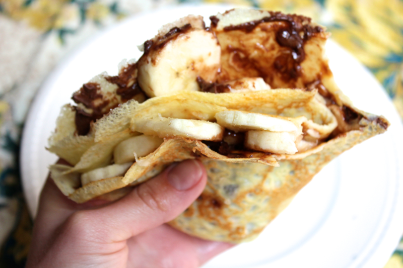 Nutella Banana Crepes Witty In The City